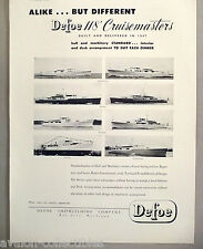 Defoe Cruisemaster Boat PRINT AD - 1948 ~~ Chanticleer, Savitar, Walmar, Natoya