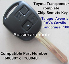 Transponder Chip Remote Key for Toyota Tarago  Avensis RAV4 Corolla Landcruiser