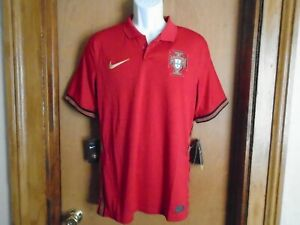 Nike Portugal Men's Home 2020-21 Polo Golf Jersey Shirt Size M NWT