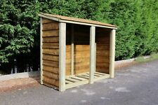 Log Store Solid Heavy Duty Log Store Garden Storage Wood Store Tanalised