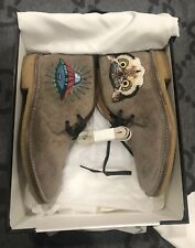 NEW IN BOX 100% AUTHENTIC GUCCI OWL SUEDE BEAR ARDESIA SNEAKERS SHOE G 7 US 8.5