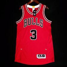 100% Authentic Dwyane Wade Bulls Pro Cut Red Jersey Size M 40 - mesh jordan