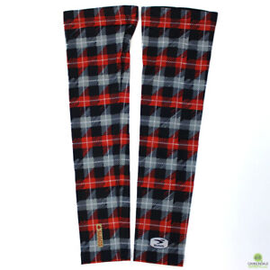Sugoi Lumberjack Arm Sleeve Black Red Flannel Print Small
