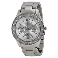 Fossil ES3588 Stella Multi-Function Silver Dial Stainless Steel Ladies Watch
