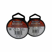 Beadalon WildFire 50yd/150ft/45.8m Thermally Bonded Beading Weaving Thread Cord