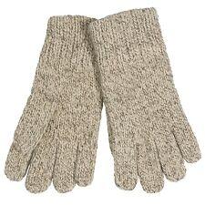 Auclair-Paris Women Ragg Wool Knit Wrist Winter Glove Unlined, One Size, Oatmeal