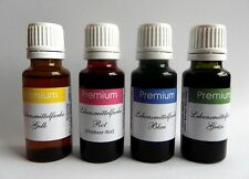 Profi Lebensmittelfarbe EXTRA hochkonzentr 10 ml Flasche SET Gelb,Rot,Blau,Grün