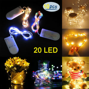 10Pcs Christmas LED Micro Wire Copper String Lights Gift Fairy Wedding Party Dec