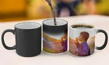Personalised MAGIC Colour Change Mug Custom Cup Gift Any Image Your Photo Text