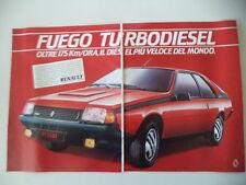 advertising Pubblicità 1983 RENAULT FUEGO TURBO DIESEL