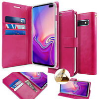 For Galaxy S10 Plus,Note 10+ KickStand Flip slim wallet Case leather Pouch cover