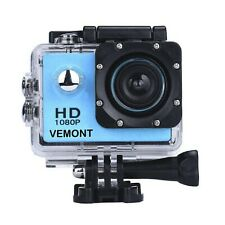Vemont Action Camera 1080P 12MP Sports Camera Full HD 2.0 Inch Action Cam... New
