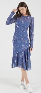 """New Cooper St """"Heavenly"""" Long Sleeve Floral Midi Dress Size 10"""