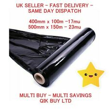 STRETCH SHRINK WRAP STRONG BLACK CLEAR ROLLS PARCEL PACKAGING CLING FILM