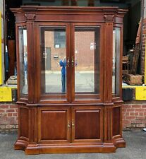 Large Cherry Stanley Furniture Dining Room China Cabinet c1990s