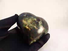 Polished Labradorite Crystal Heart Carving - 97mm, 385g