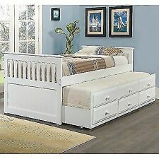 Donco Kids Captains Twin Trundle Bed 103tw