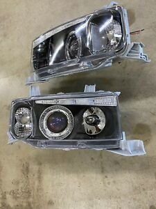 2004-2007 Scion xB Halo Projector Black Housing Headlamps