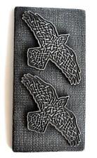 Norse Odin Raven Huginn Muninn Celtic Iron Sculpture Wall Mount Art Decor  Gift