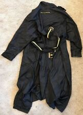 Sonia Rykiel Black/Yellow Rain Jacket trench Coat T. XL Stains Parka