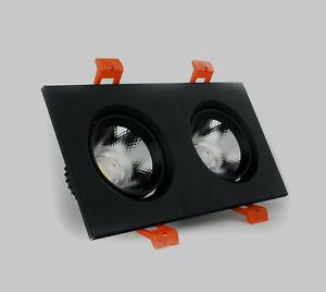 Double recessed LED ceiling spotlight 5W lamp built in bulb 170-265V 45 degree