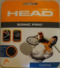 NEW Head Sonic Pro Black 16 G Guage Tennis String 40 foot Pack forty ft Set