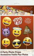 ** EMOJI PHOTO BOOTH ACCESSORIES PROPS NEW ** 8 PC PARTY FACE SMILEY