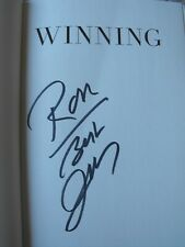 Winning by Suzy Welch and Jack Welch (2005, HC) SIGNED / AUTOGRAPHED by JACK