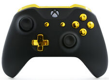 Black/Gold Xbox One S / X Rapid Fire Modded Controller for COD WW2 Destiny 2