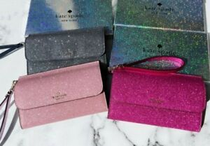 Kate Spade Lola Joeley Multifunctional Wristlet Glitter w GIFT BOX