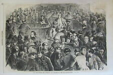CLOTURE DE LA BOURSE DE PARIS  GRAVURE XIXéme N° 45 L'UNIVERS ILLUSTRE 1859