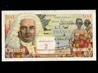 Saint Pierre & Miquelon:P-32,100 Francs,1963 * French Rule *