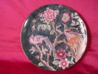 Plate Porcelain Chinese Metallic Design Plate Floral Bird Design