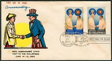 1960 Commemorating The Pres. DWIGHT D. EISENHOWER Visit to the Philippines FDC-B