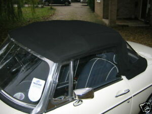 MG  NEW MGB ROADSTER BLACK  VINYL  HOOD  for packaway frame 1962-1969 AHH8516