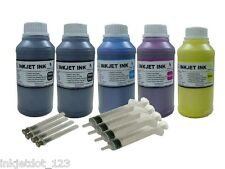 5x250ml Pigment refill ink for Epson WorkForce WP-4020 WP-4530 WP-4540 +Syringes
