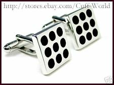 Novelty Black Polka Dot Cuff Links cufflinks #C-27