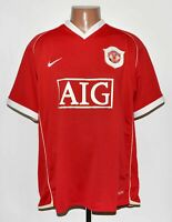 MANCHESTER UNITED 2006/2007 HOME FOOTBALL SHIRT JERSEY NIKE SIZE L ADULT