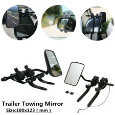 Pair of  Truck Trailer RV Wide Angle Mirror Clip-on Towing Extend Rearview Black