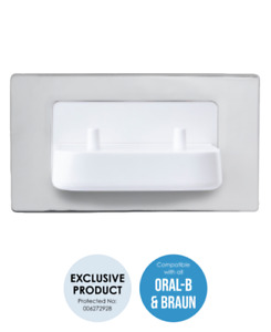 ProofVision TBCHARGE Dual In Wall Electric Toothbrush Charger - Polished Steel