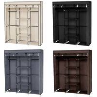 "High Quality 69"" Portable Closet Wardrobe Clothes Storage Organizer w/Shelf"