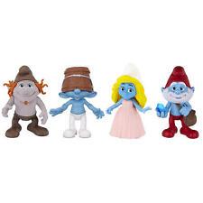 Smurf Smurfs Figure Figurine Set 4 Pack - Smurfette, Clumsy, Hackus, Papa