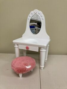 "My Life  Light Up Vanity Table & Stool Set for 18"" Dolls Furniture"