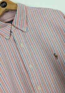 Men's Ralph Lauren Shirt / Large / Polo / Stripes / Classic / Casual / Smart