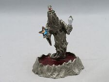 New Fantasy Mythical & Magic Comstock Pewter Jeweled Wizard with Crystal & Star