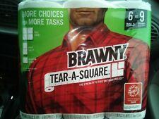 Brawny paper towels 6 Rolls = 9 Regular Rolls Tear A Square