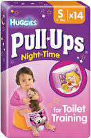 Huggies Pull-Ups Night Time Potty Training Pants Girls Size 4 Small 8-15kg (14)
