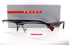 ad32af32cdc PRADA PR PS 52fv Dg0-1o1 Black Rubber Frame Rectangular Eyeglasses 54