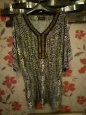 Savoir T-Shirt Leopard print sz18poss sz20 Batwing sleeve Sheared Waist