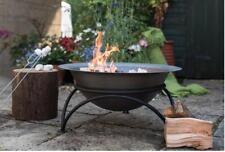 Woodlodge Products Cast Iron&Steel Wood Burning Fire Pit 29cm H x60cm W x60cm D